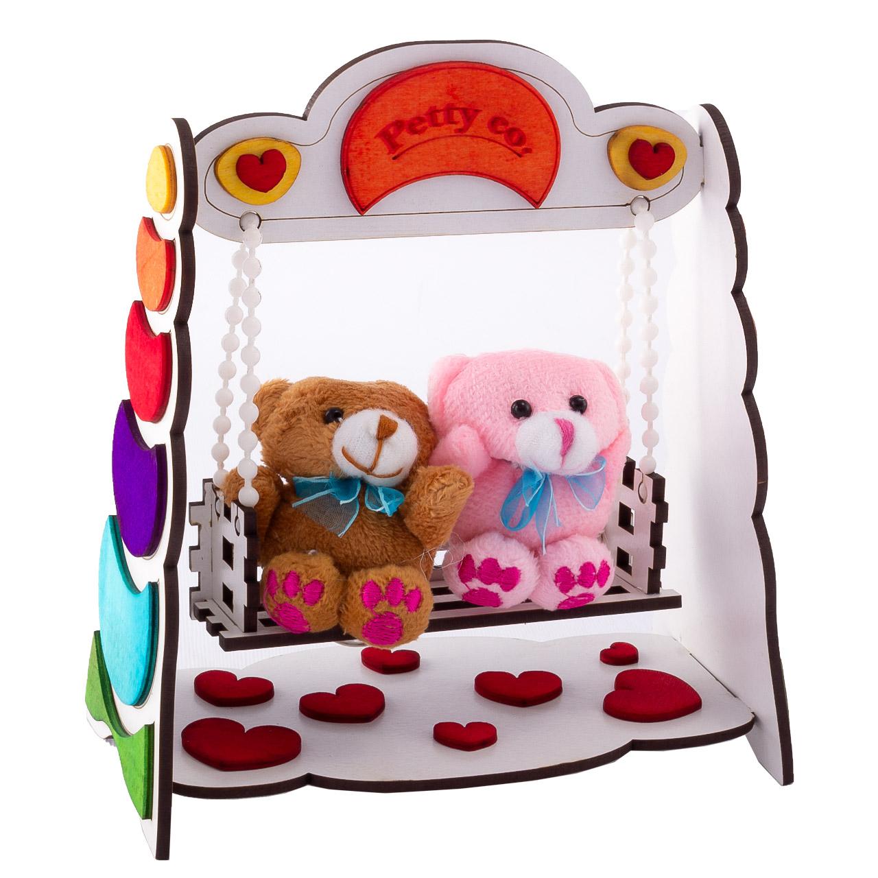 ماکت دکوری تاب پتیکو مدل Lovely Swing به همراه 2 عروسک آویز