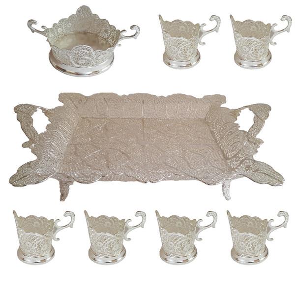 سرویس چای خوری 8 پارچه مدل سرتاج