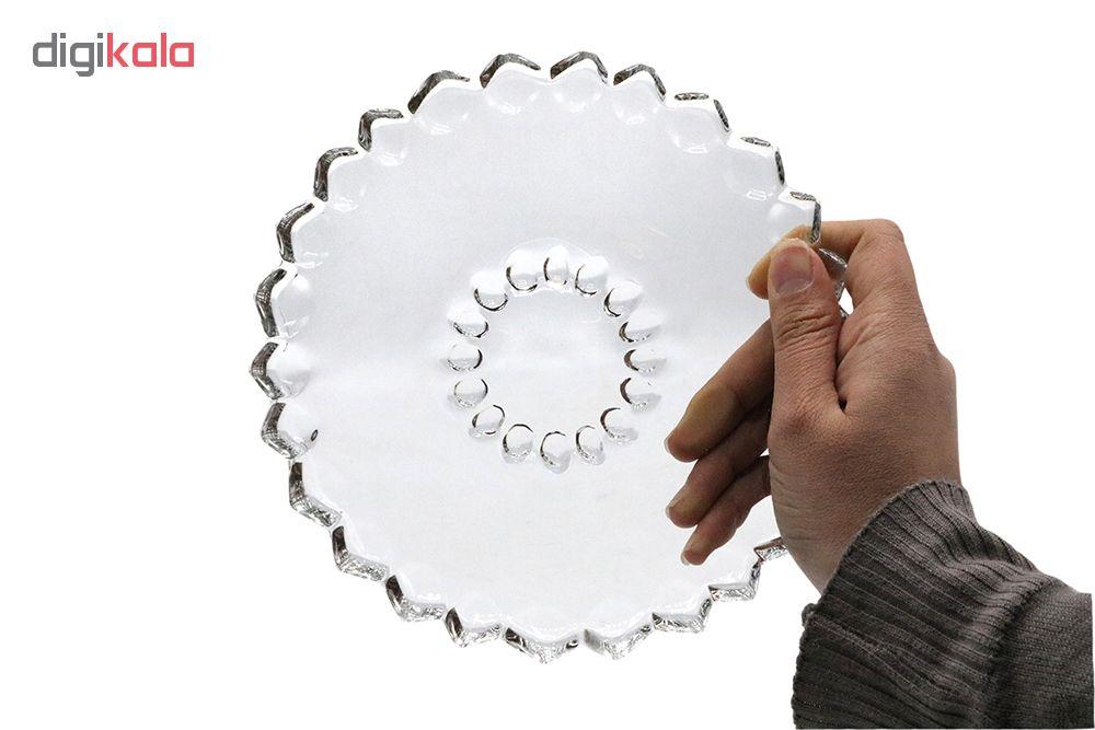 پیش دستی شیشه و بلور اصفهان مدل یاقوت کد 803 بسته 6 عددی