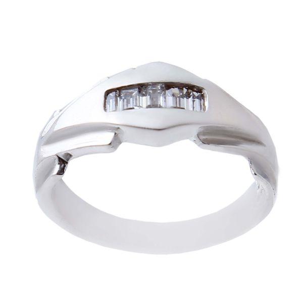 انگشتر نقره مردانه بازرگانی میلادی مدل حلقه کد AM_1240