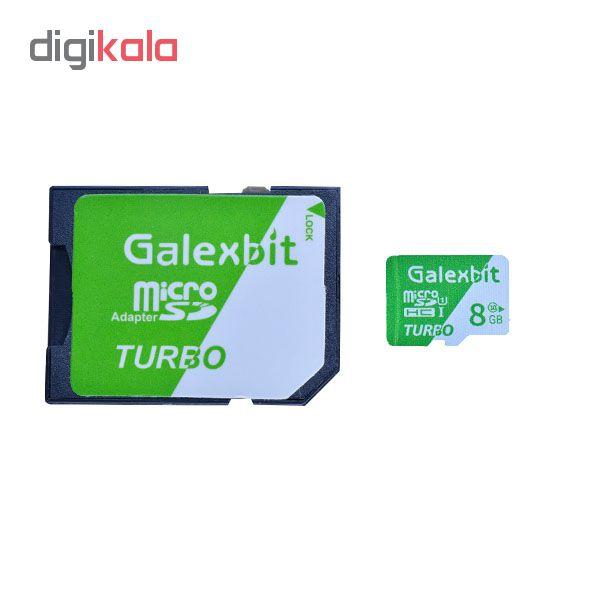 کارت حافظه microSDHC گلکسبیت مدل Turbo کلاس 10 استاندارد UHS-I سرعت 70MBps ظرفیت 8 گیگابایت به همراه آداپتور SD