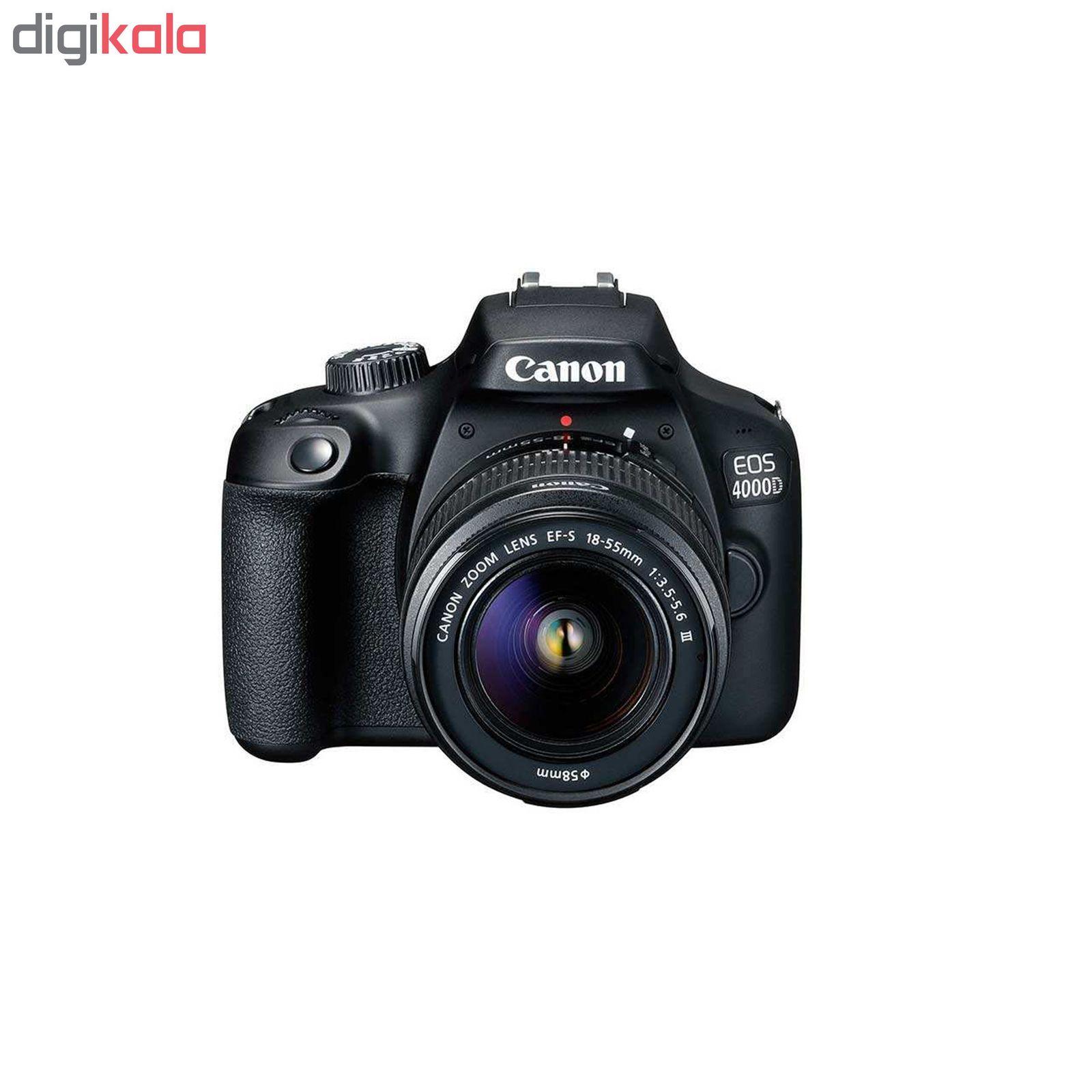 دوربین دیجیتال کانن مدل EOS 4000D به همراه لنز 18-55 میلی متر DC III و لوازم جانبی main 1 12