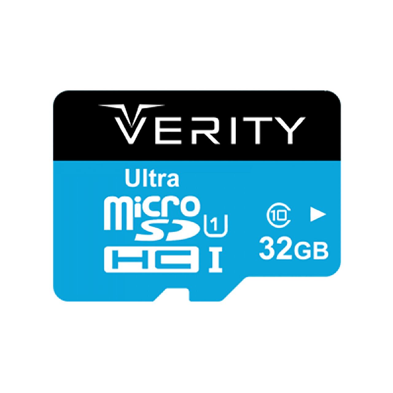 کارت حافظه microSDHC وریتی کلاس 10 استاندارد UHS-I U1 سرعت 65MBps ظرفیت 32 گیگابایت   Verity U1 Class 10 65MBps microSDHC - 32GB