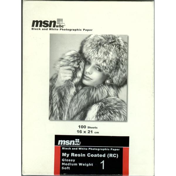 کاغذ عکاسی سیاه و سفید گلاسه ام اس ان دبلیو بی سی مدل RC بسته ۱۰۰ عددی