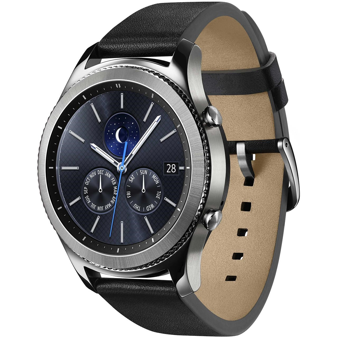 خرید ساعت هوشمند سامسونگ مدل Gear S3 Classic SM-R770 Black Leather