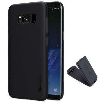 کاور نیلکین مدل Super Frosted Shield مناسب برای گوشی موبایل سامسونگ Galaxy S8 Plus به همراه پایه نگهدارنده