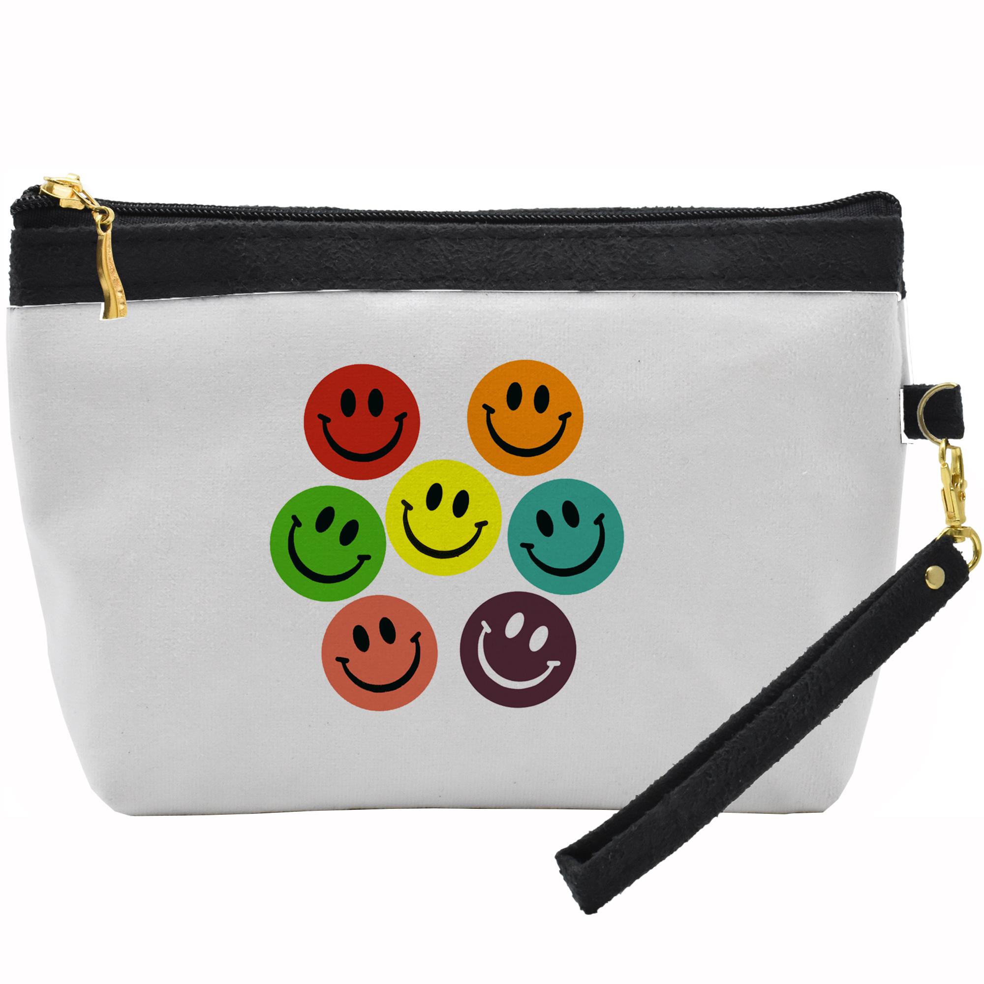 کیف لوازم آرایشی طرح ایموجی خنده کد C13