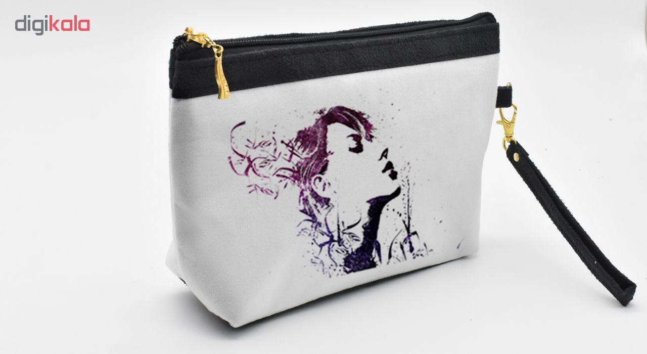 کیف لوازم آرایشی طرح نقاشی کد C15