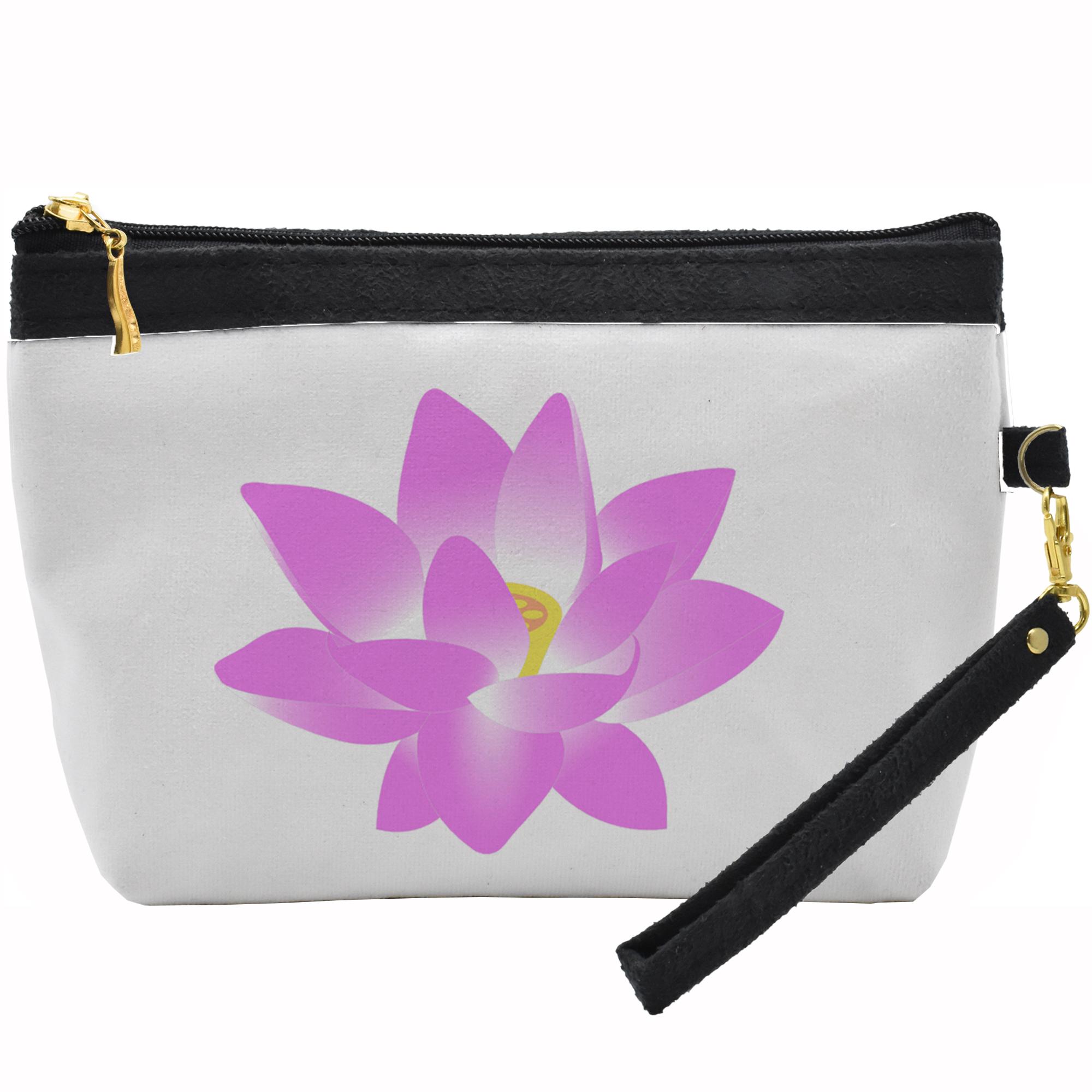 کیف لوازم آرایشی طرح گل کد C 17