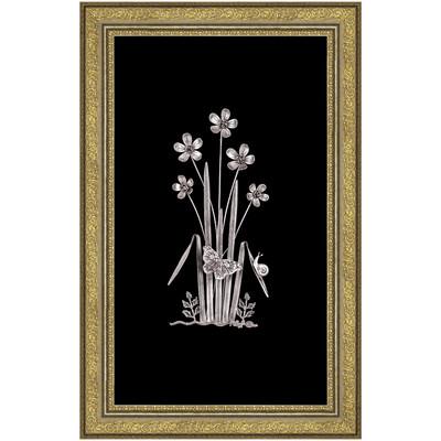 Photo of تابلو نقره طرح گل و پروانه و حلزون کد 1313010063