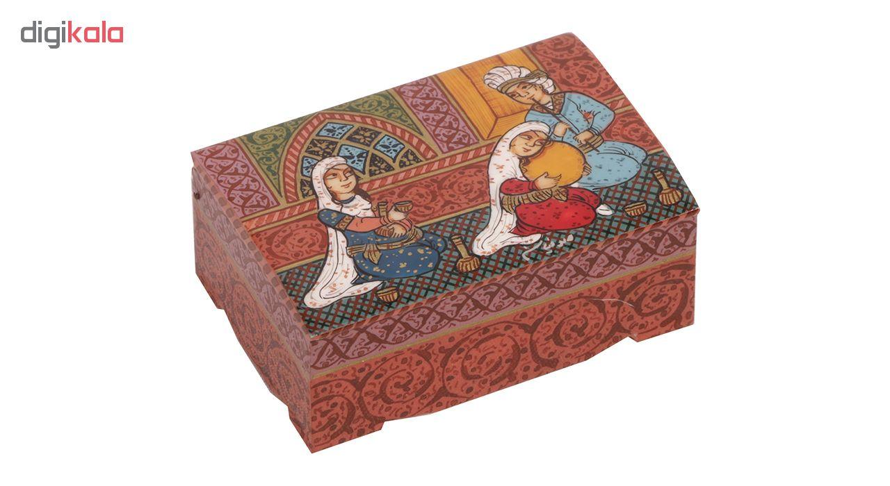 خرید                      جعبه جواهرات استخوانی گالری گوهران مدل 214
