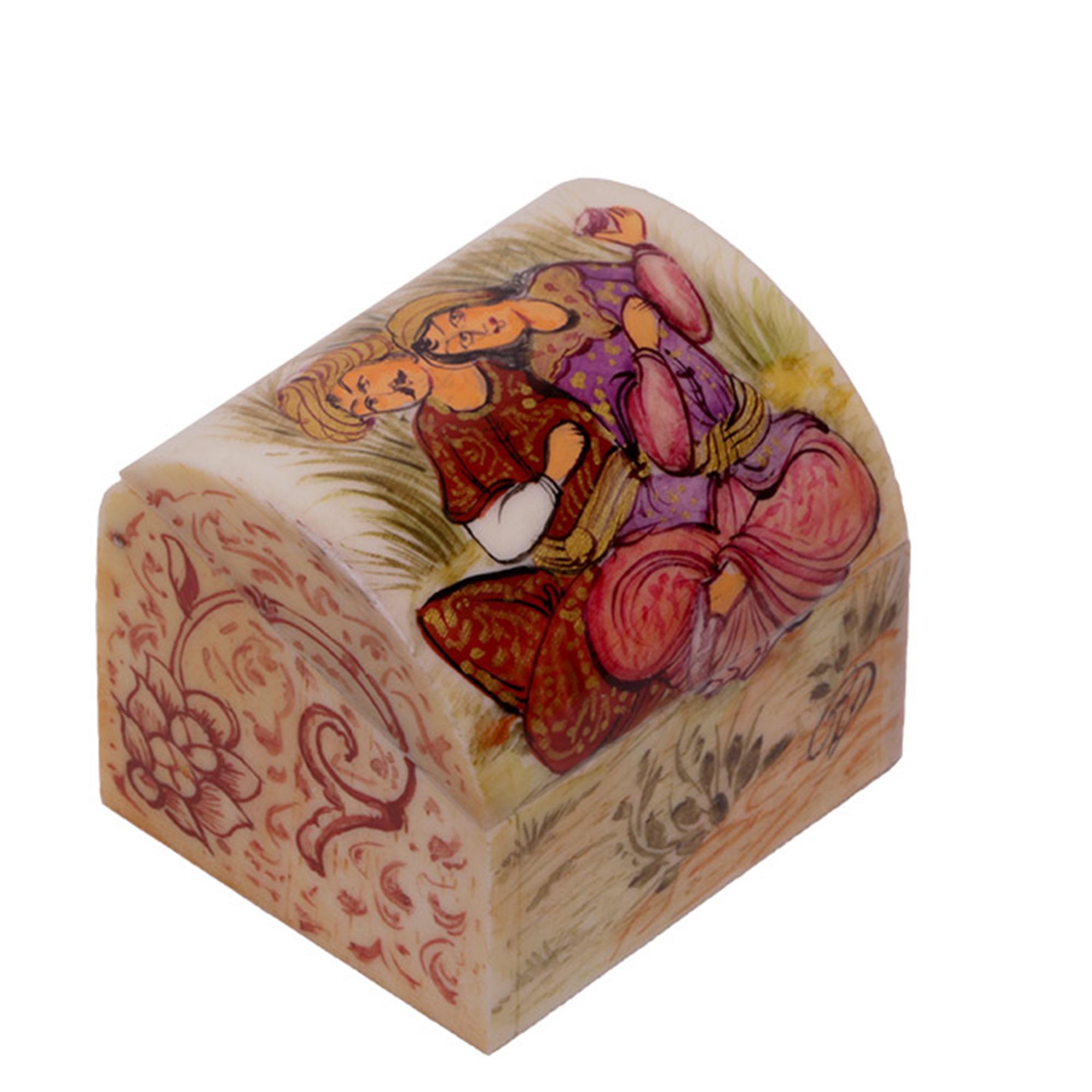 جعبه جواهرات استخوانی گالری گوهران مدل 217