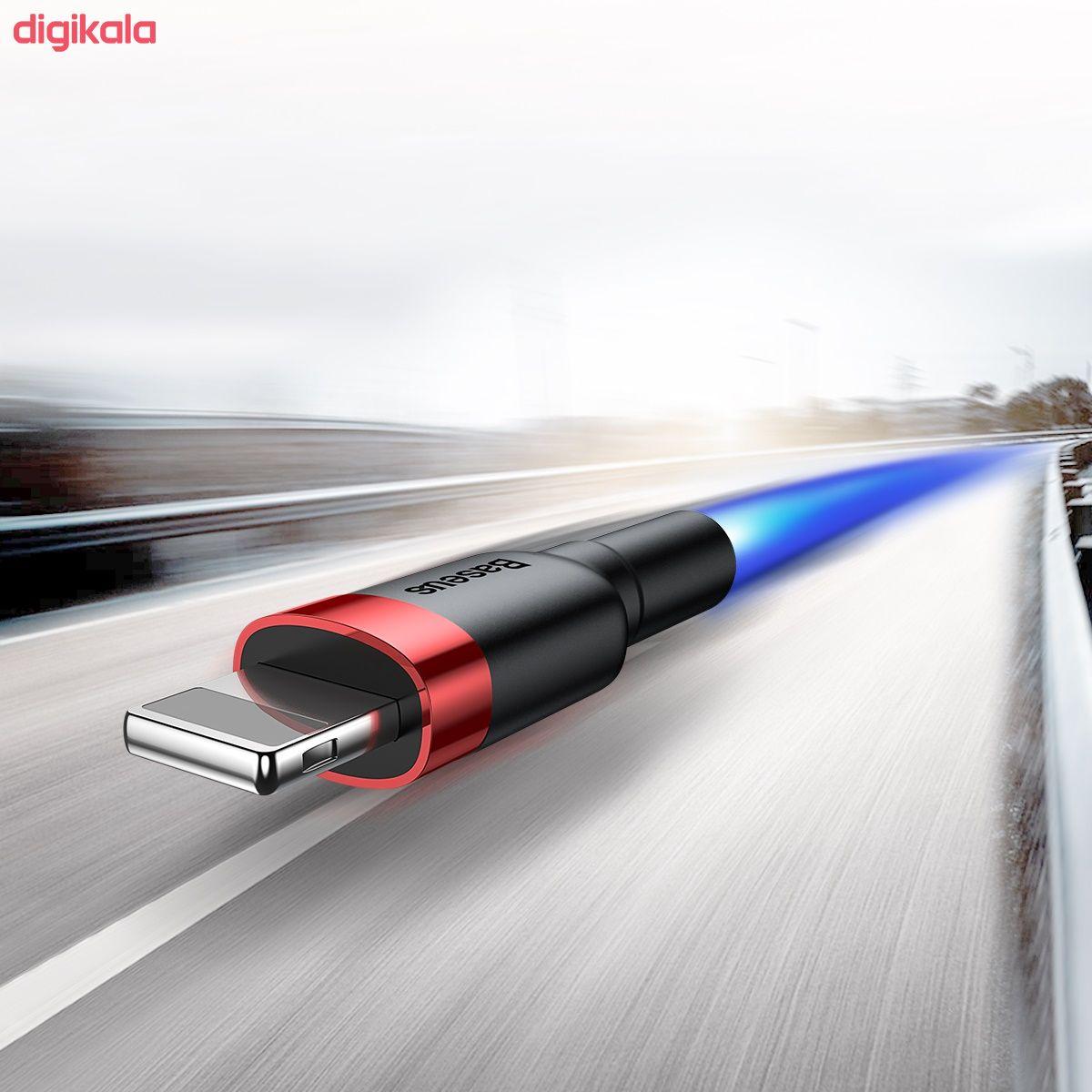 کابل تبدیل USB به لایتنینگ باسئوس مدل CALKLF-C19 Cafule طول 2 متر main 1 9