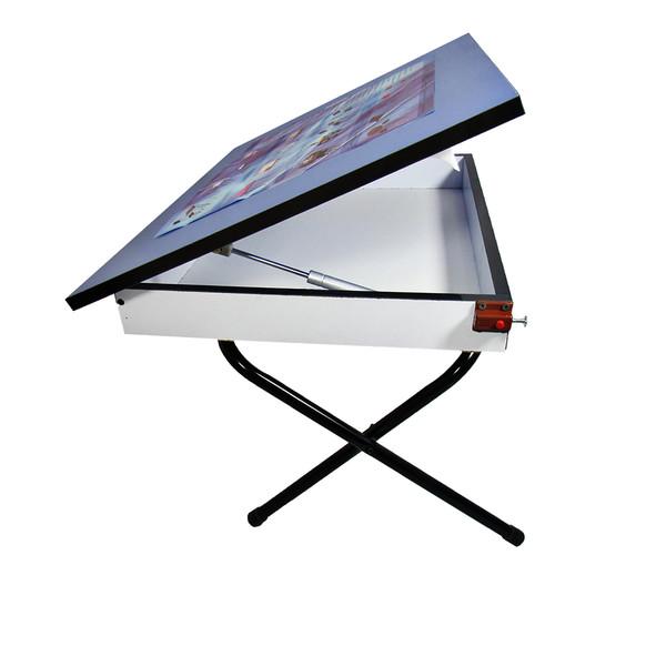 میز تحریر پایه کوتاه باکسدار سایز 70*50 (ضدخش،تاشو،تنظیم شونده ارتفاع)