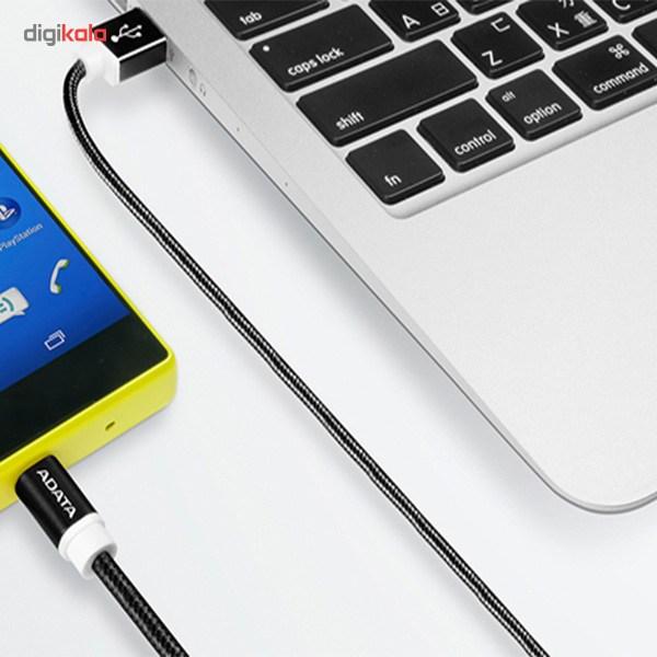 کابل تبدیل USB به microUSB ای دیتا مدل Reversible Aluminum به طول 1 متر