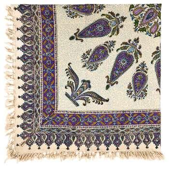 رومیزی قلمکار ممتاز اصفهان اثر عطريان طرح ترنج مدلG68 سایز 120*120 سانتیمتر