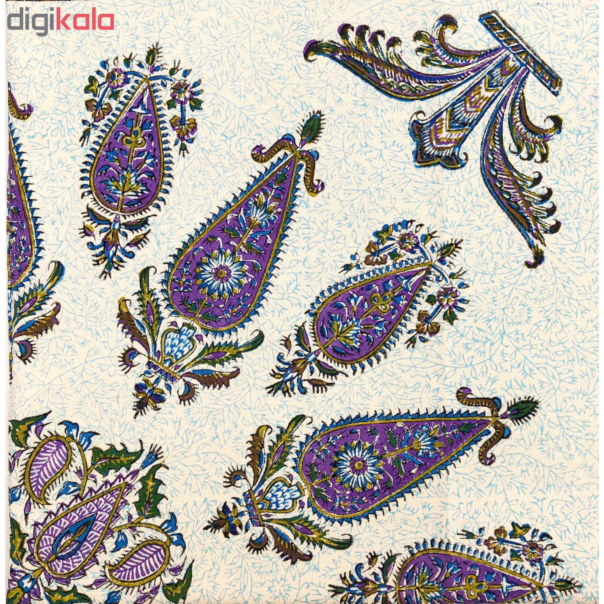 خرید                      رومیزی قلمکار ممتاز اصفهان اثر عطريان طرح ترنج مدلG68 سایز 120*120 سانتیمتر
