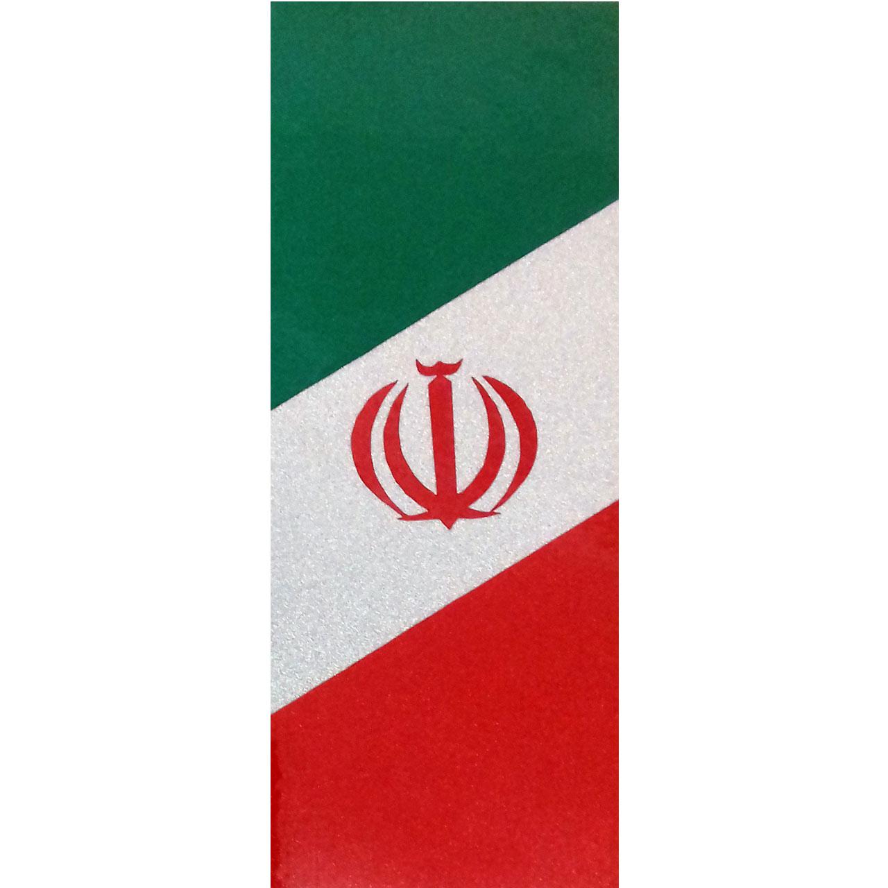 برچسب پلاک خودرو طرح پرچم ایران مدل BR32 بسته 2 عددی