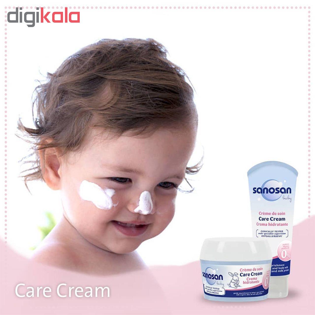 کرم مرطوب کننده کودک سانوسان مدل Care Cream حجم 75 میلی لیتر