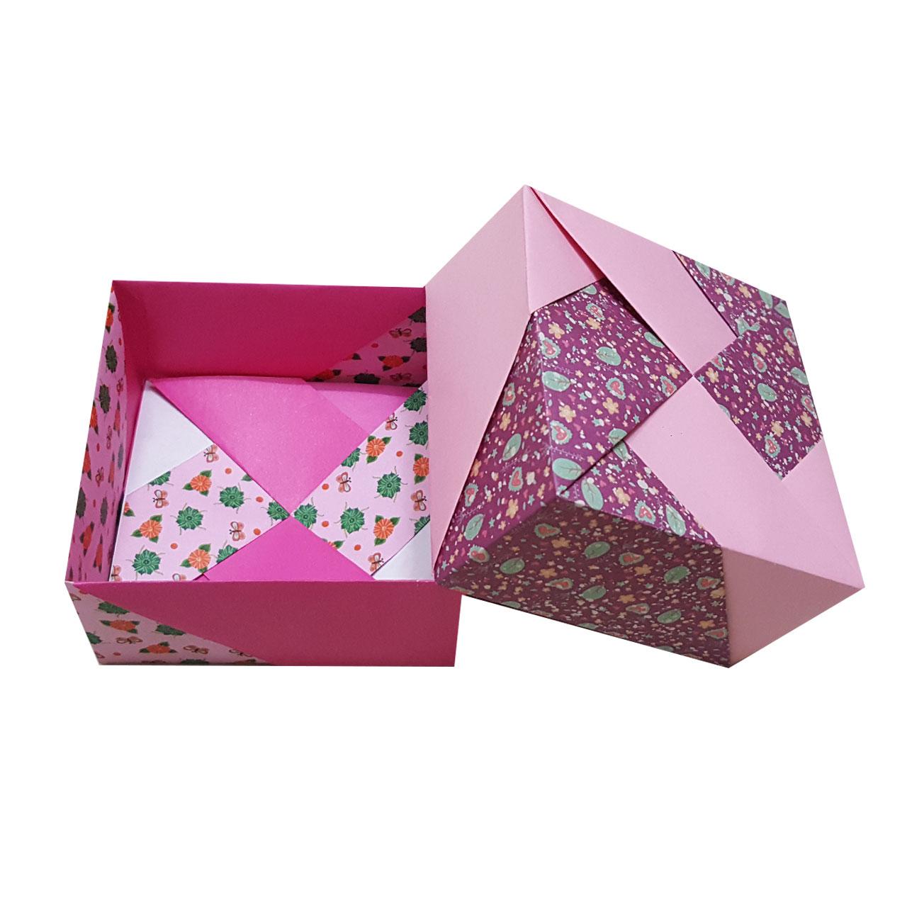جعبه هدیه مدل اریگامی pink love