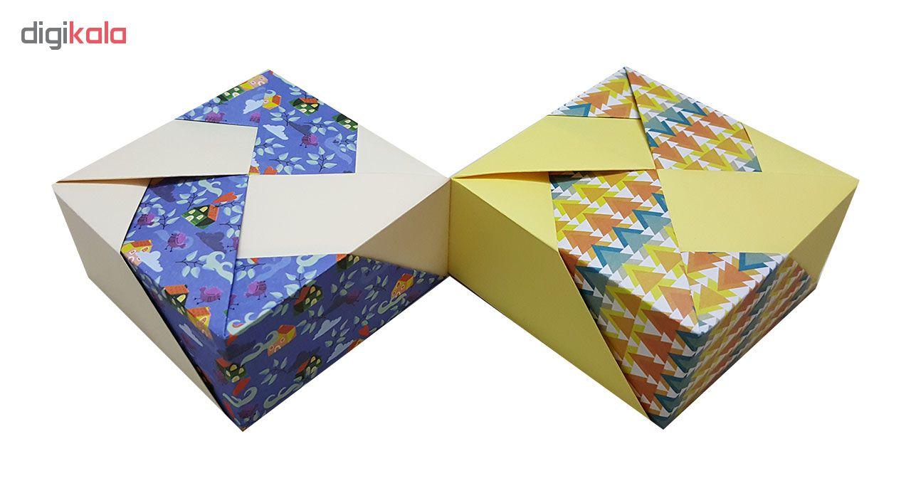 خرید                      جعبه هدیه مدل اریگامی sweet home