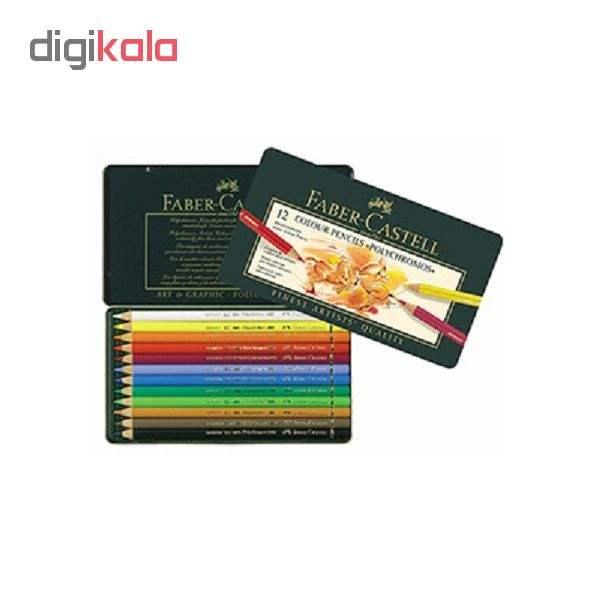 مداد رنگی 12 رنگ فابرکاستل مدل پلی کروموس main 1 2