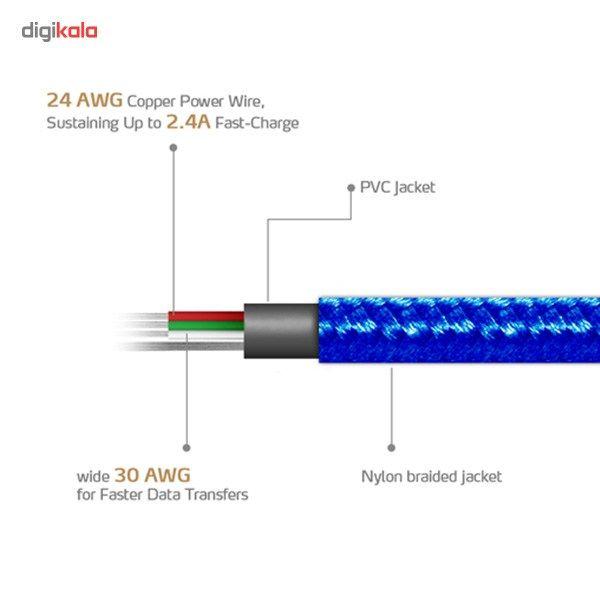 کابل تبدیل USB به microUSB ای دیتا مدل Reversible Aluminum به طول 1 متر main 1 10