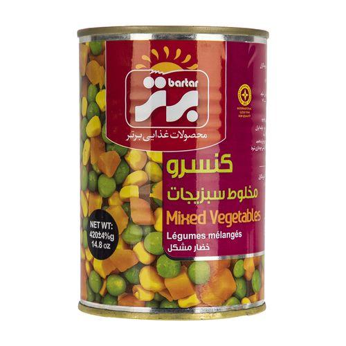 کنسرو مخلوط سبزیجات برتر مقدار 420 گرم