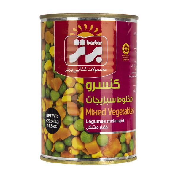 کنسرو مخلوط سبزیجات برتر - 420 گرم