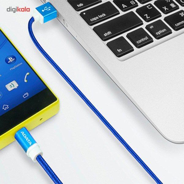 کابل تبدیل USB به microUSB ای دیتا مدل Reversible Aluminum به طول 1 متر main 1 12