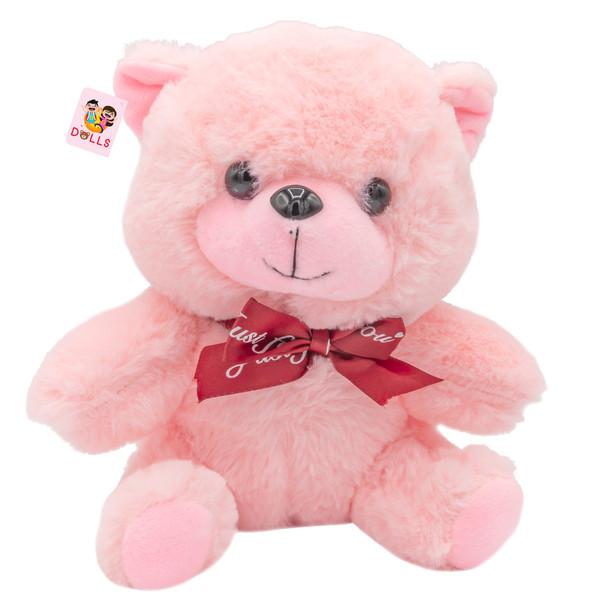 عروسک خرس بی جی دالز مدل Pink Bear ارتفاع 20 سانتی متر