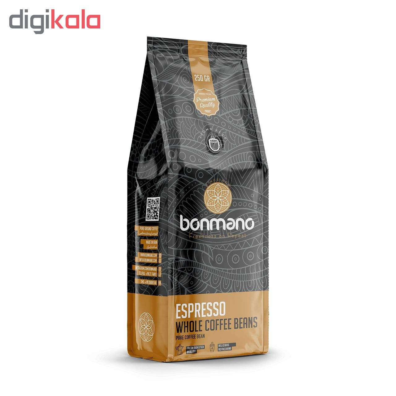 دانه قهوه اسپرسو بن مانو  مقدار ۲۵۰ گرم main 1 1