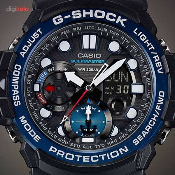 ساعت مچی عقربه ای مردانه کاسیو مدل GN-1000B-1ADR -  - 6
