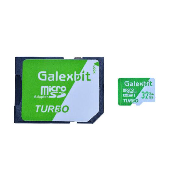 کارت حافظه microSDHC گلکسبیت مدل Turbo کلاس 10 استاندارد UHS-I سرعت 70MBps ظرفیت 32 گیگابایت به همراه آداپتور SD