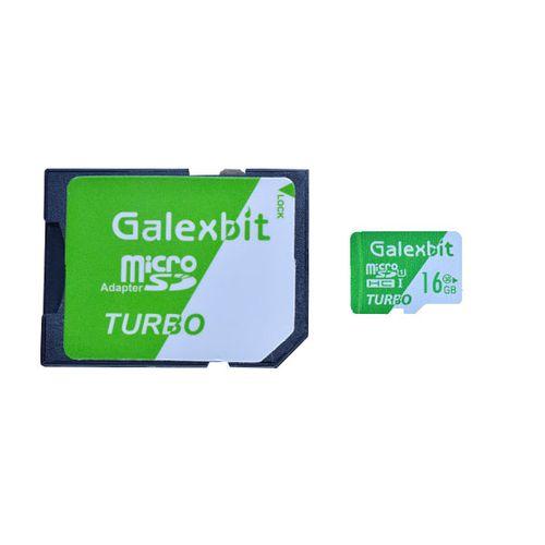 کارت حافظه microSDHC گلکسبیت مدل Turbo کلاس 10 استاندارد UHS-I سرعت 70MBps ظرفیت 16 گیگابایت به همراه آداپتور SD