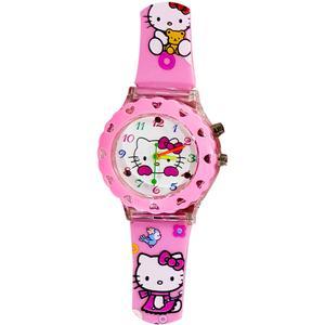 ساعت مچی عقربه ای بچه گانه مدل Kitty رنگ صورتی