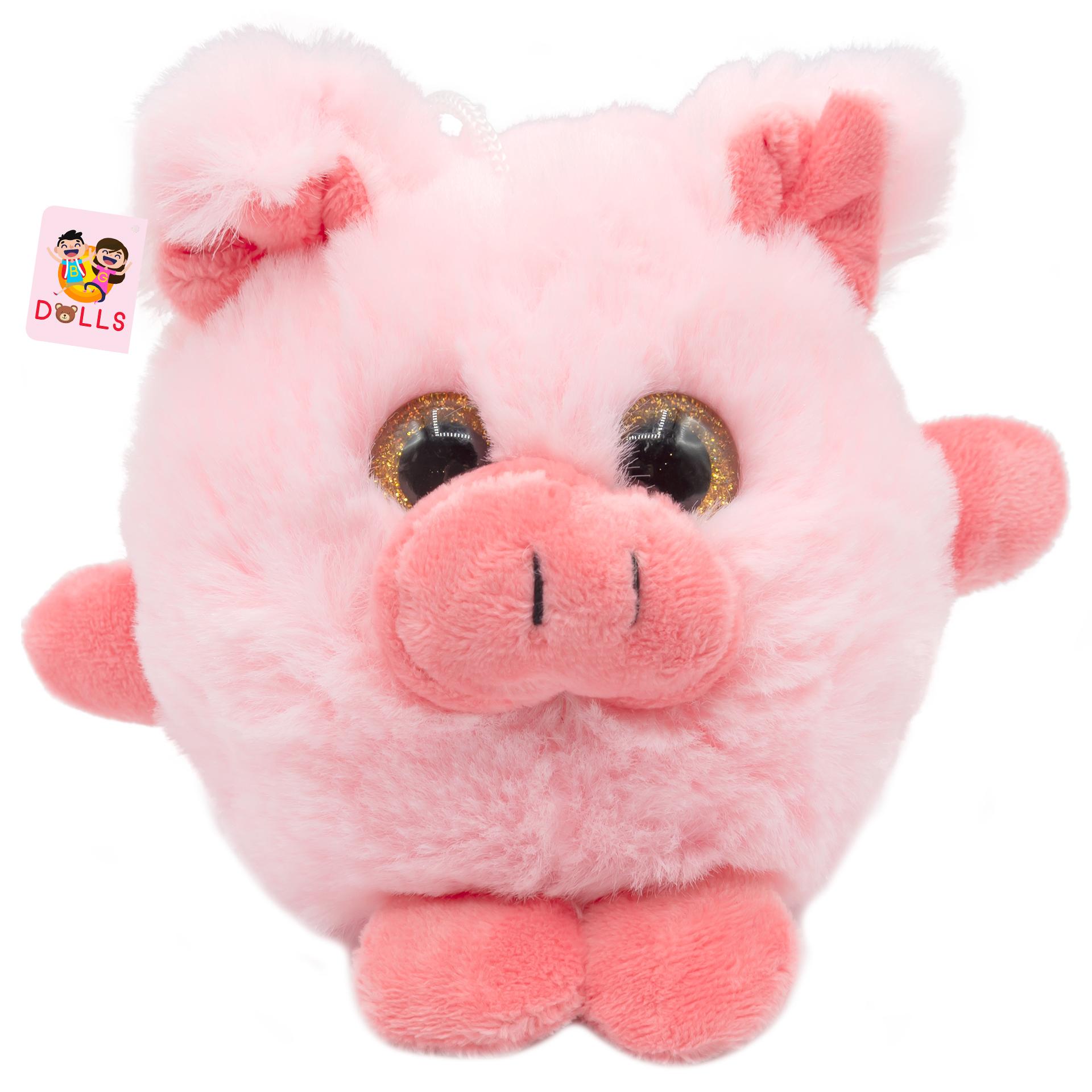 عروسک بی جی دالز طرح خوک مدل Pink pig ارتفاع 12 سانتی متر