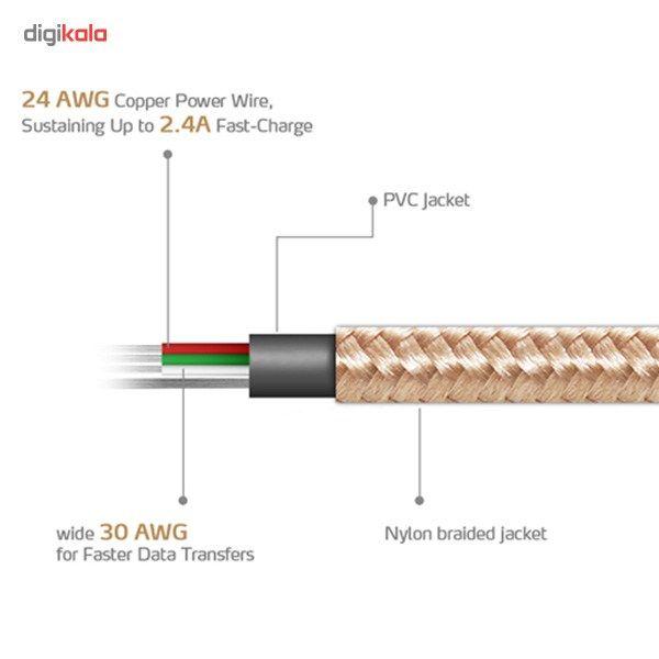 کابل تبدیل USB به microUSB ای دیتا مدل Reversible Aluminum به طول 1 متر main 1 16