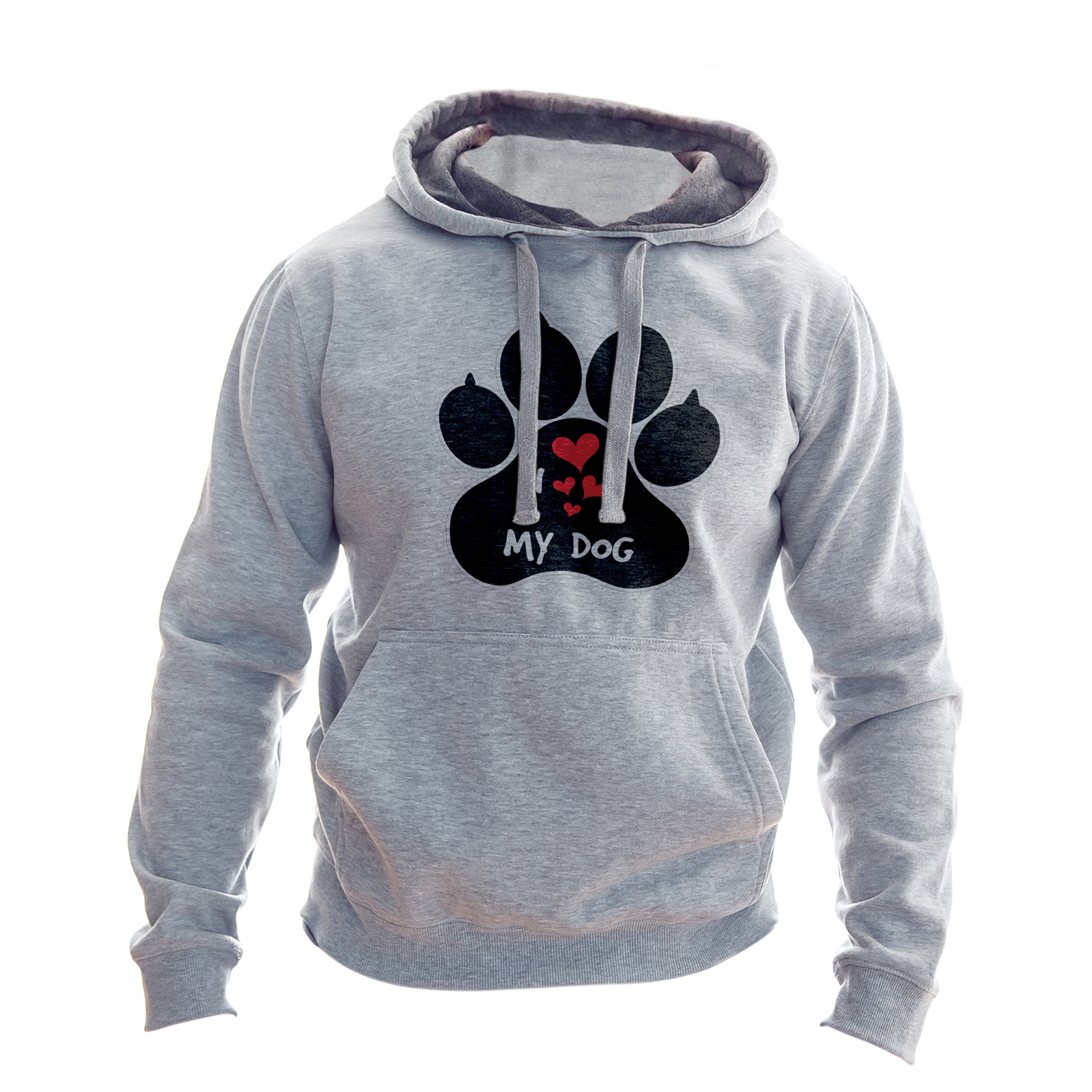 هودی مردانه به رسم طرح عشق سگ کد1102