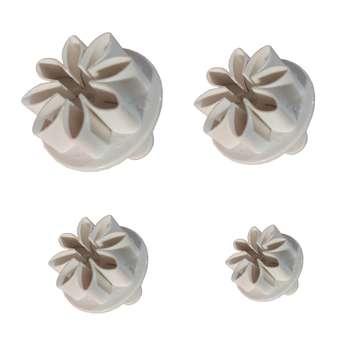 کاتر شیرینی پزی طرح گل مینا مجموعه 4 عددی