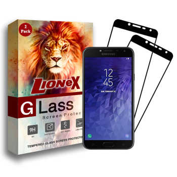 محافظ صفحه نمایش 5D لایونکس مدل USS مناسب برای گوشی موبایل سامسونگ Galaxy J4 2018 بسته دو عددی