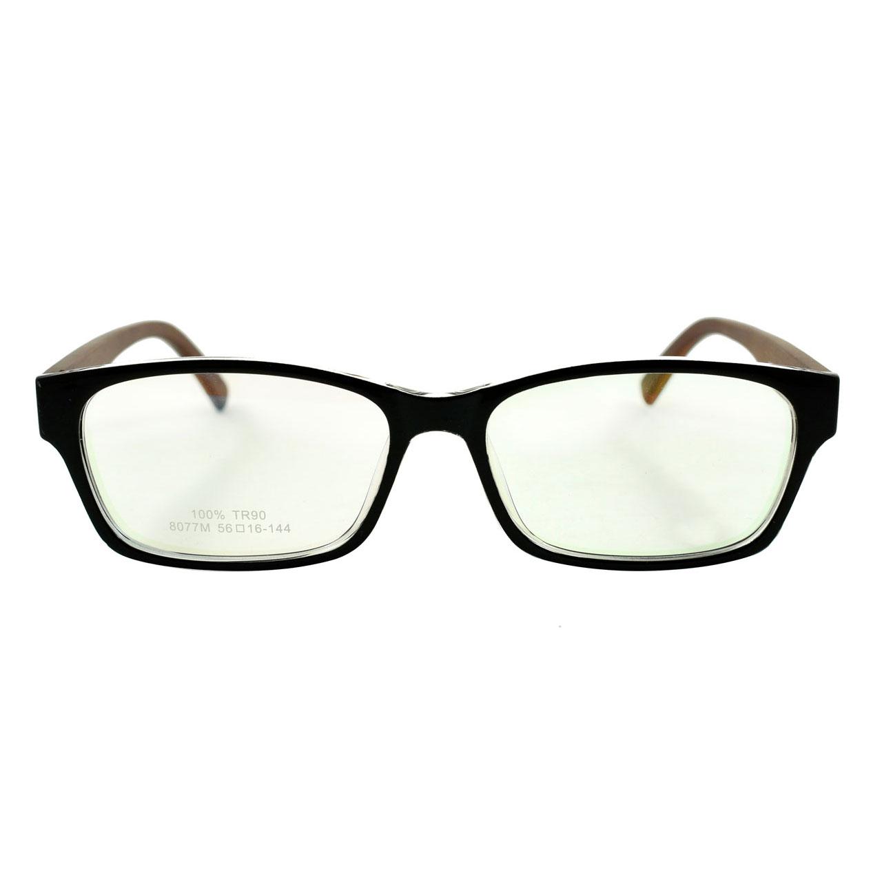 قیمت فریم عینک طبی مدل Tr90 Wooden Transparent Edge