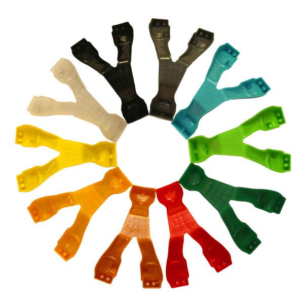 انبر چنگول مدل  123 Multi Color بسته 10 عددی