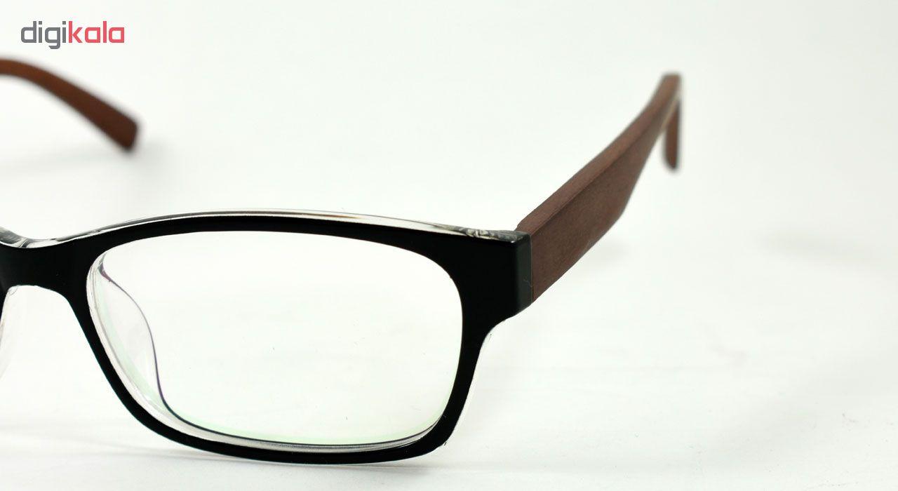 فریم عینک طبی مدل Tr90 Wooden Transparent Edge