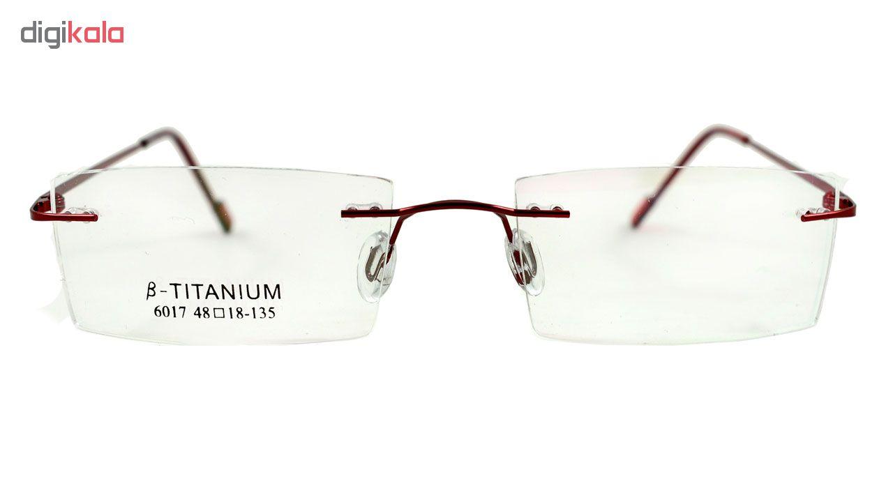 فریم عینک طبی مدل Beta Titanium Polished Red