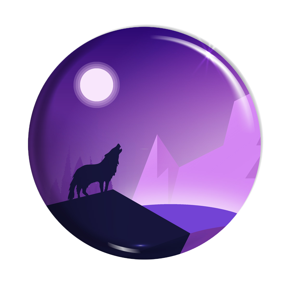 پیکسل کد پیکسل  اسانا طرح گرگ طبیعت شب ماه کد ASA017