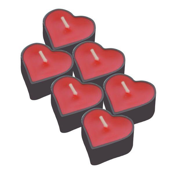 شمع وارمر مدل قلب 001 بسته 6 عددی