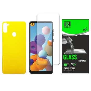 محافظ صفحه نمایش وپشت گوشی روبیکس مدلSA-A11 مناسب برای گوشی موبایل سامسونگ Galaxy A11