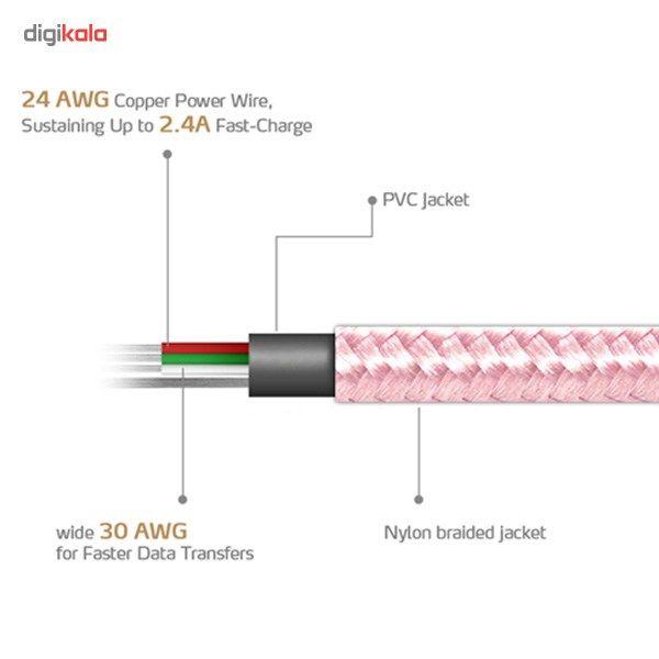 کابل تبدیل USB به microUSB ای دیتا مدل Reversible Aluminum به طول 1 متر main 1 22