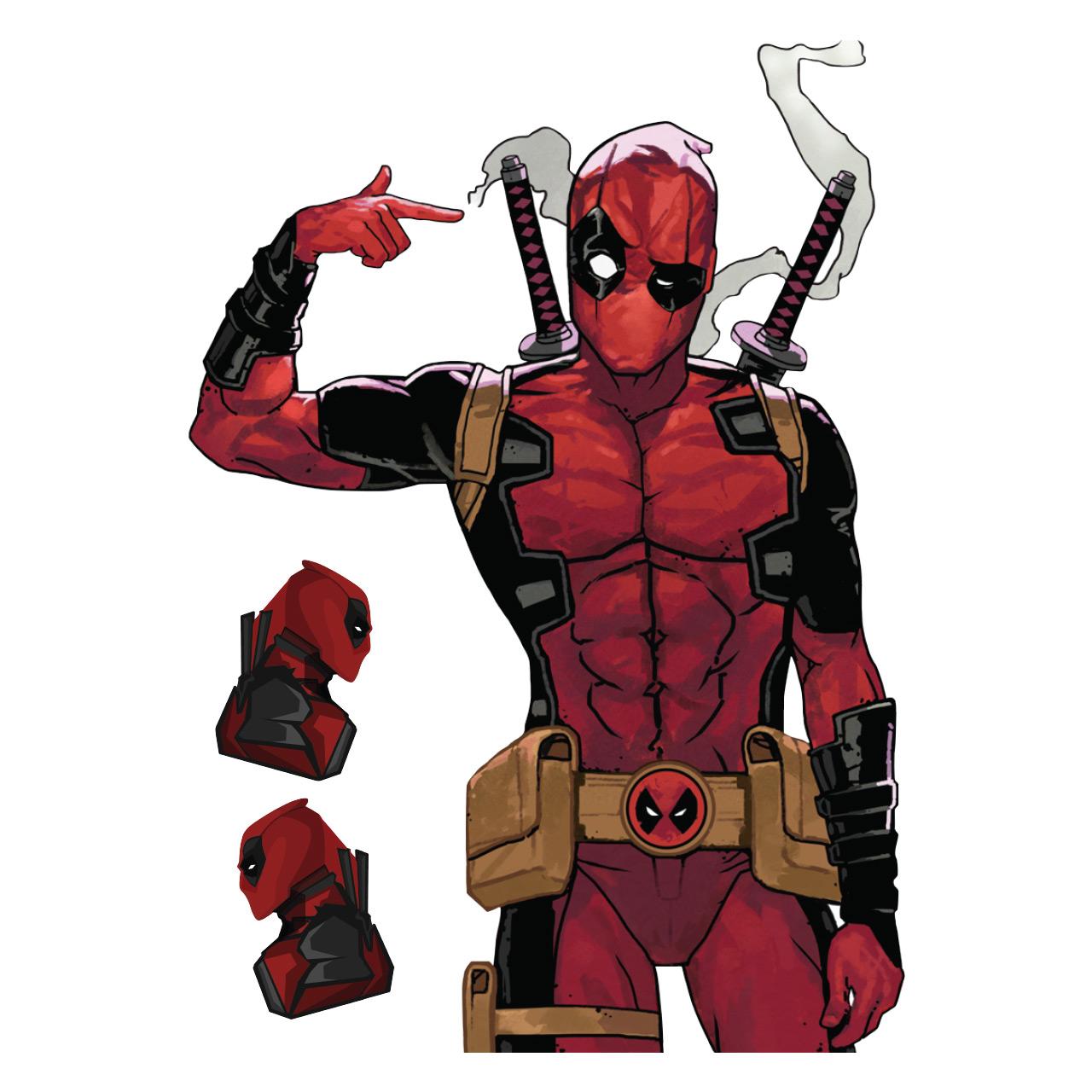 برچسب پلی استیشن 4 طرح Deadpool مجموعه 3 عددی